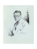Sidney Dark, English Writer, 1925 Giclee Print by Sir William Orpen