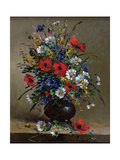 Poppies and Daisies Giclee Print by Eugene Henri Cauchois