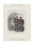 Perquisition Dans Une Imprimerie Giclee Print by Charles Albert d'Arnoux Bertall