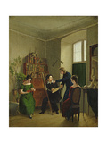 The Artist in His Studio, 1828 Giclee Print by Louis Asher