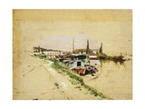 The Seine at Bougival Giclee Print by Giovanni Boldini