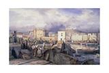 Naples Dock, 1842 Giclee Print by Giacinto Gigante