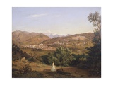 View of Massa, 1843 Giclee Print by Antonio Fontanesi