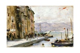 Ligurian Village Giclee Print by Francesco Vinea