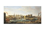 Docklands in Naples Giclee Print by Gaspar van Wittel