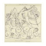 Gods and Titans Giclee Print by John Flaxman