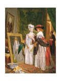 Critics on Costume, Fashions Change Giclee Print by John Callcott Horsley