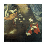 The Annunciation Giclee Print by Francesco De Rosa