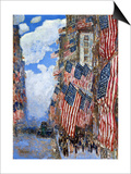 The Fourth of July, 1916 Poster von Childe Hassam