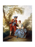 A Couple Making Music in a Landscape Giclee Print by Nicolas Lancret