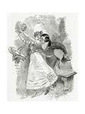 Illustration from Toute La Lyre,19th Century Giclee Print by Adolphe Leon Willette