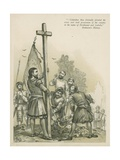Columbus Claiming the New World for Spain Giclee Print by Andrew Melrose