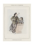 Commissaire De Police Giclee Print by Charles Albert d'Arnoux Bertall