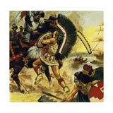 The Siege of Tenochtitlan Began in May 1521 Giclee Print by Alberto Salinas