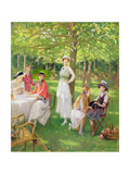 Tea in the Garden Giclee Print by Jules Cayron