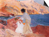 Clotilde and Elena on the Rocks, Javea Posters by Joaquín Sorolla y Bastida
