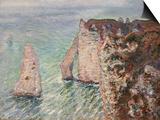 L'Aiguille and the Porte D'Eval, Etretat, 1886 Prints by Claude Monet