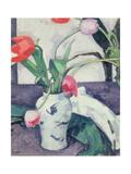 Still Life: Tulips in a Chinese Vase, 1924 Giclee Print by Samuel John Peploe