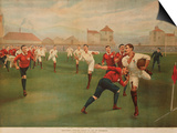 A Rare Print of England V. Wales. January 5th 1895 at Swansea Posters