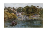 Fowey, Bodinnick Ferry Giclee Print by Alfred Robert Quinton