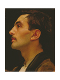 Head of an Italian Model, C.1855 Giclee Print by Frederick Leighton
