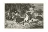 La Chasse a L'Epoque Du Fer Giclee Print by Emile Antoine Bayard
