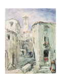 The Old Tower at Cannes, 1870 Giclee Print by William 'Crimea' Simpson