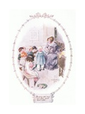 Scolding Little Boys and Girls Giclee Print by Charles Edmund Brock
