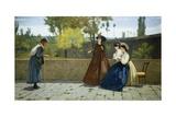 Almsgiving, 1864 Giclee Print by Silvestro Lega