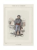 Un Pointeur Giclee Print by Charles Albert d'Arnoux Bertall