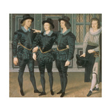 The Browne Brothers, 1598 Giclee Print by Isaac Oliver