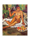 Young Half-Caste Woman Giclée-Druck von Marie Clementine Valadon
