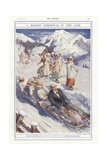 A Modern Christmas in the Alps Giclee Print by Clement Flower