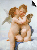 The First Kiss Art by William Adolphe Bouguereau