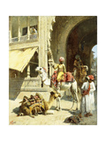 Indian Scene, 1884-89 Giclee Print by Edwin Lord Weeks