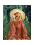 Little Girl in a Redcurrant Dress, 1912 Giclee Print by Mary Cassatt