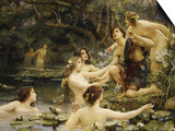 Hylas and the Water Nymphs Posters by Henrietta Rae
