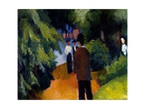 Park with Pond, 1913 Giclee Print by Auguste Macke