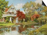 The Boathouse Prints by Alfred Parsons