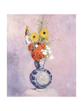 Bouquet of Flowers in a Blue Vase Giclee Print by Odilon Redon
