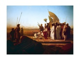 Xerxes at Hellespont Giclee Print by Jean Adrien Guignet