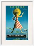 Pan American: Caribbean by Clipper, c.1958 Art by Jean Carlu