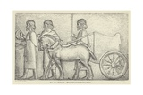Persepolis, Men Leading Horses Drawing Chariot Giclee Print