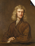 Portrait of Sir Isaac Newton, the Great Philosopher, Mathematician and Astronomer Prints by Godfrey Kneller