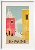 Espagne Poster Framed Giclee Print by Bernard Villemot