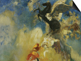 The Black Pegasus Print by Odilon Redon