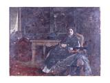 In the Livingroom Giclee Print by Giuseppe De Nittis