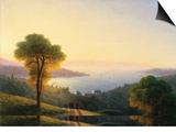 A View of the Bosphorus from the European Side Above the Palace of the Dolmabache, the Seraglio… Prints by Ivan Konstantinovich Aivazovsky