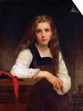 The Fair Spinner Prints by William Adolphe Bouguereau