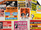 Collection of 1960's Odeon Concert Hall Bills, Including the Beach Boys, Duke Ellington, Ella… Print